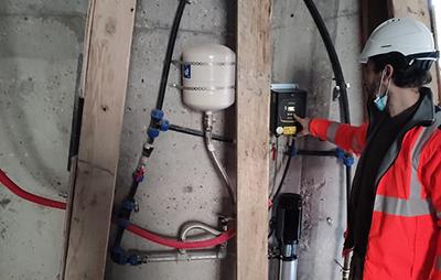 Installation de chantier, plomberie